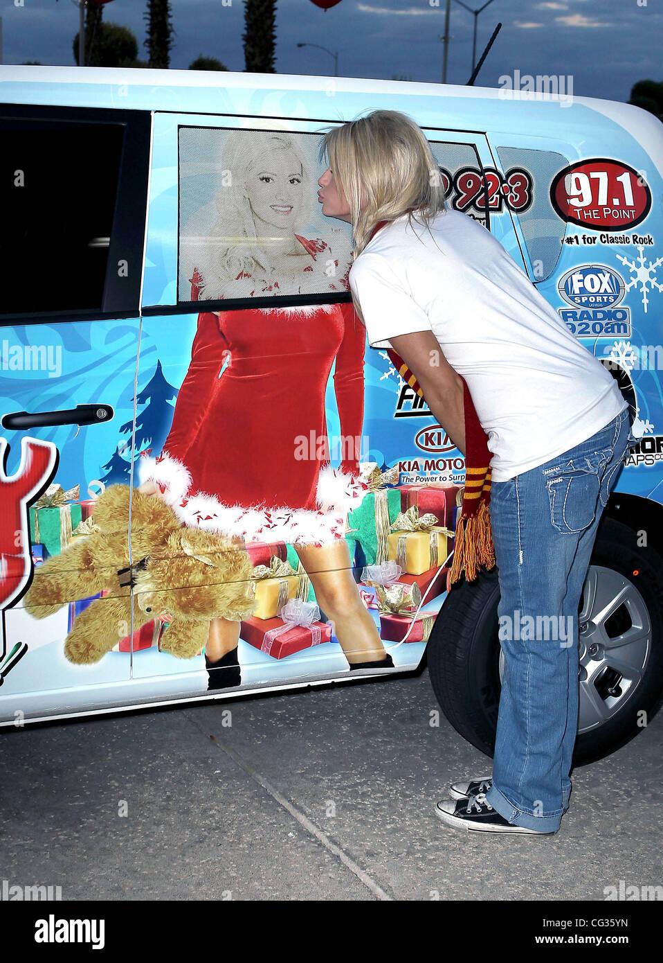 angel perrino at the holly jolly toys for tots at findley kia las vegas nevada