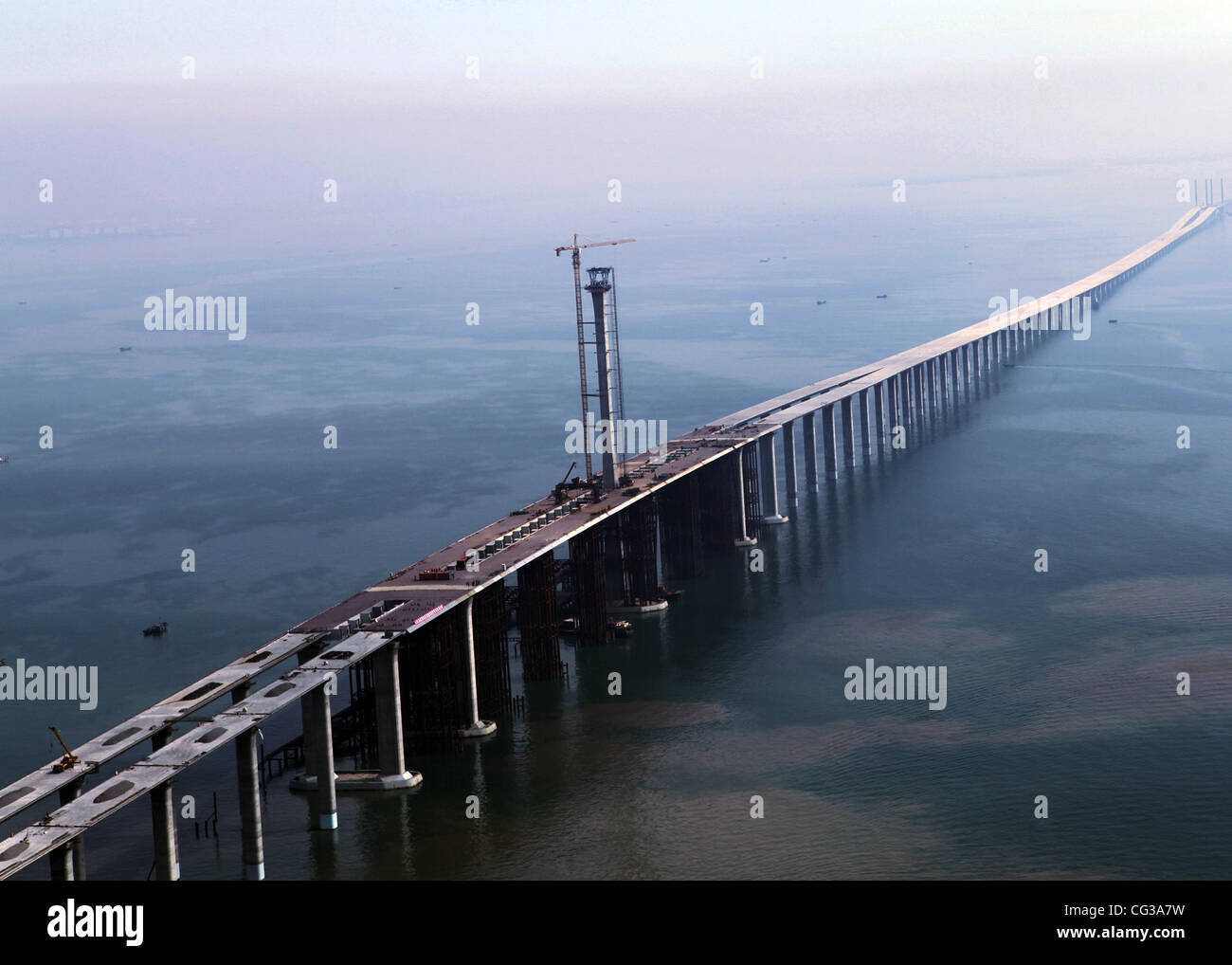 longest sea bridge the qingdao haiwan bridge was completed