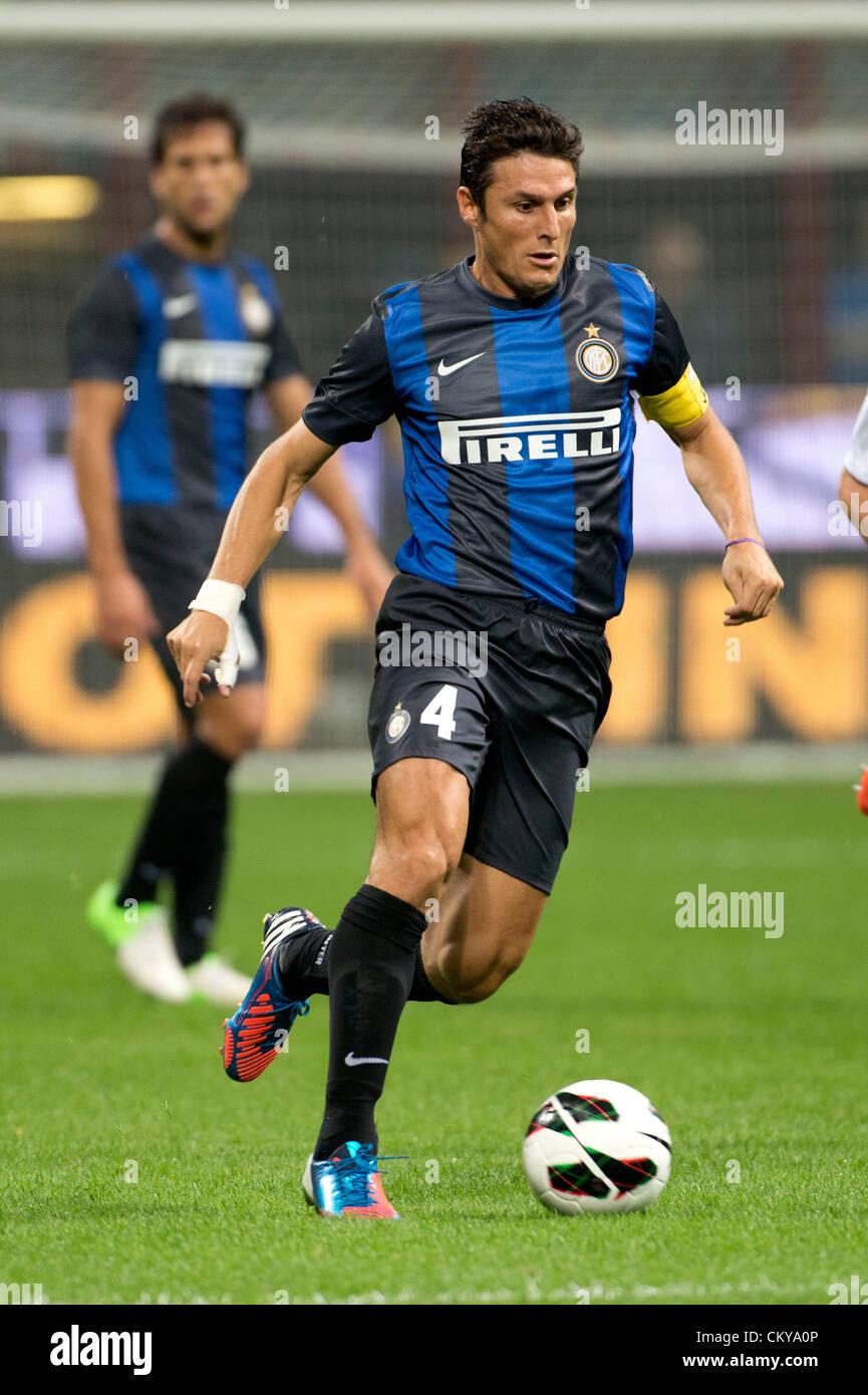 Javier Zanetti Inter AUGUST 30 2012 Football Soccer UEFA