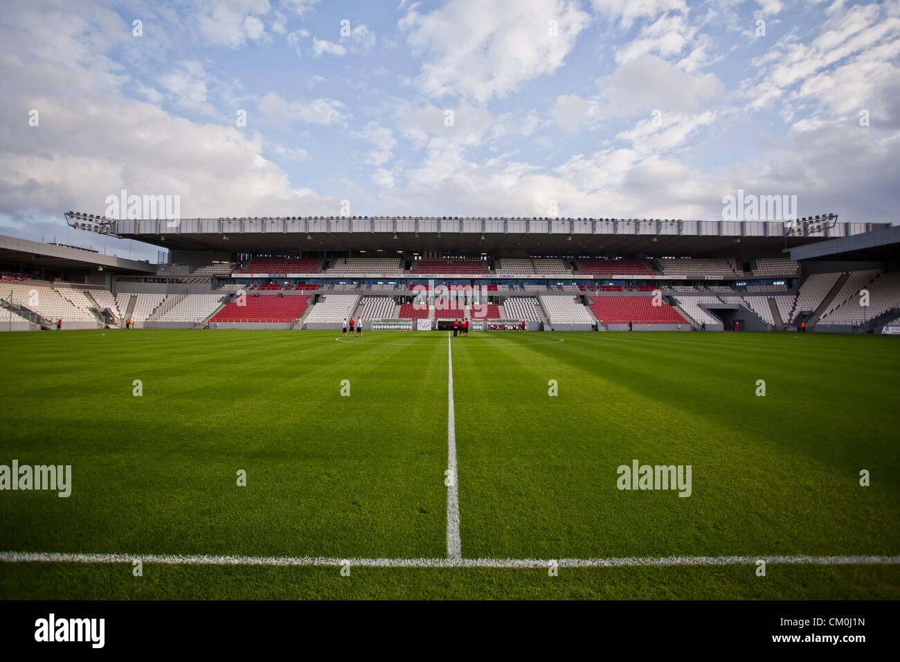 marshal jozef pilsudski stadium football stadium in krakow poland stock photo royalty free. Black Bedroom Furniture Sets. Home Design Ideas