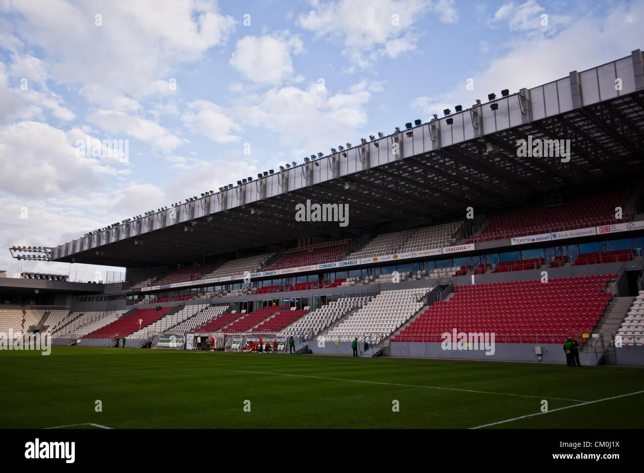 marshal jozef pilsudski stadium football stadium in krakow poland stock photo royalty free. Black Bedroom Furniture Sets. Home Design Ideas