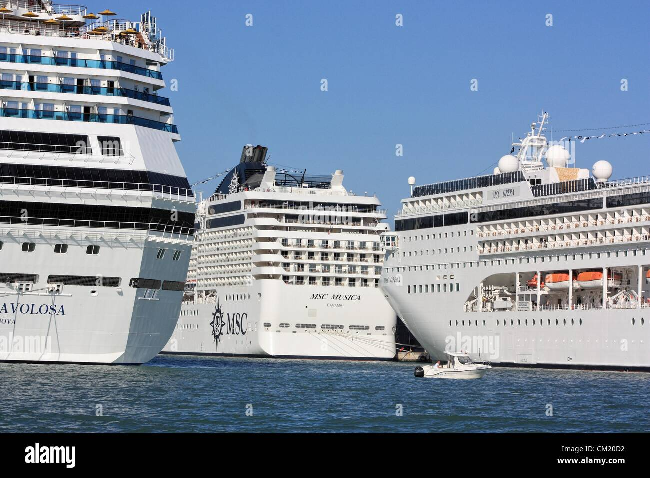 cruise ships costa favolosa msc opera and msc musica in the port of stock photo royalty free