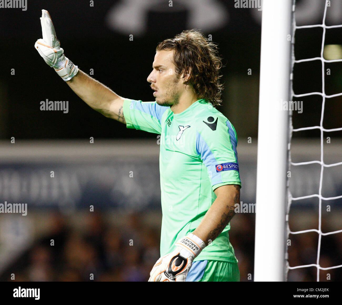 20 09 2012 London ENGLAND Federico Marchetti of S S Lazio in
