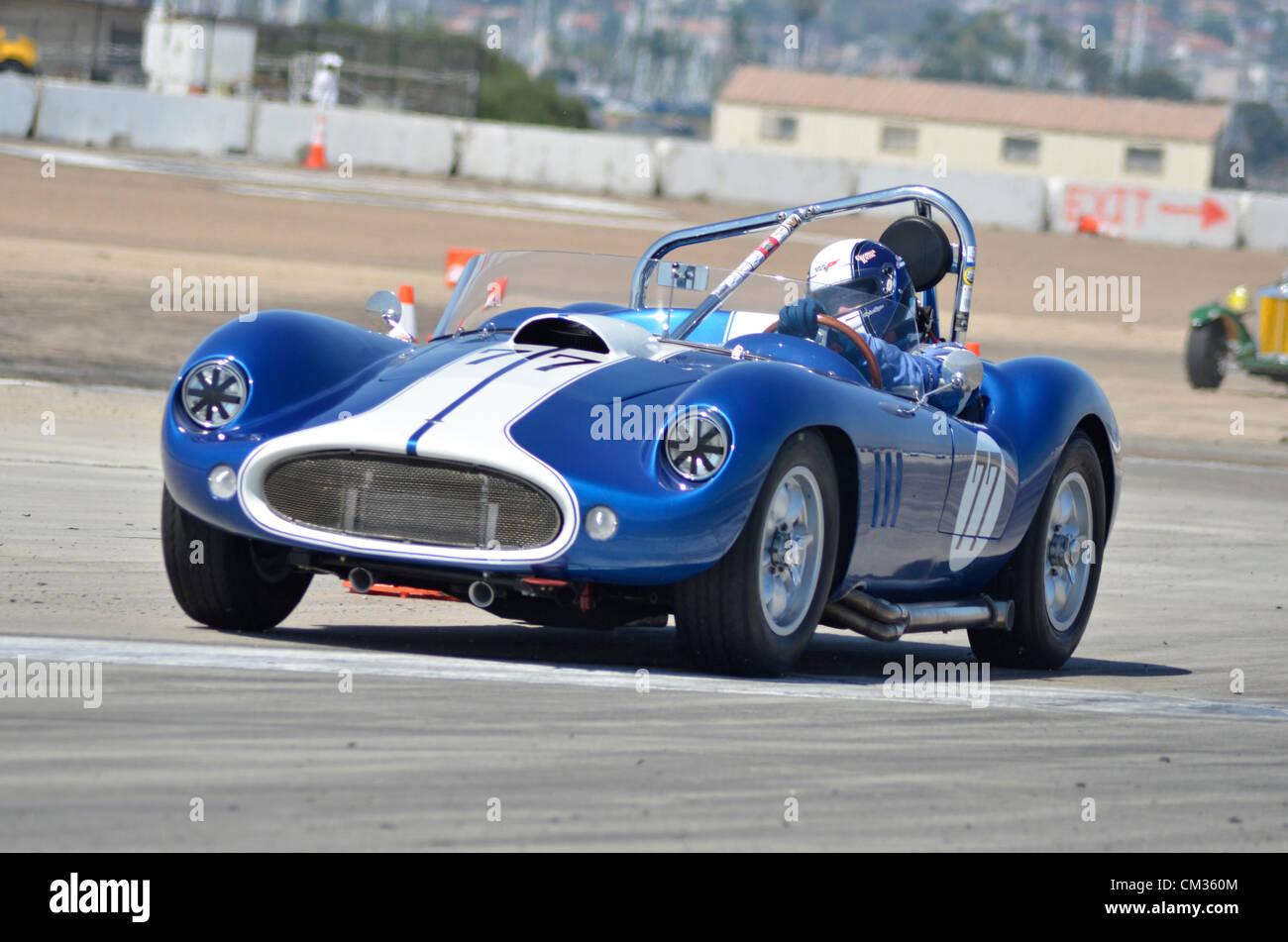 Sep. 23, 2012 - San Diego, California, U.S. - Vintage cars race ...