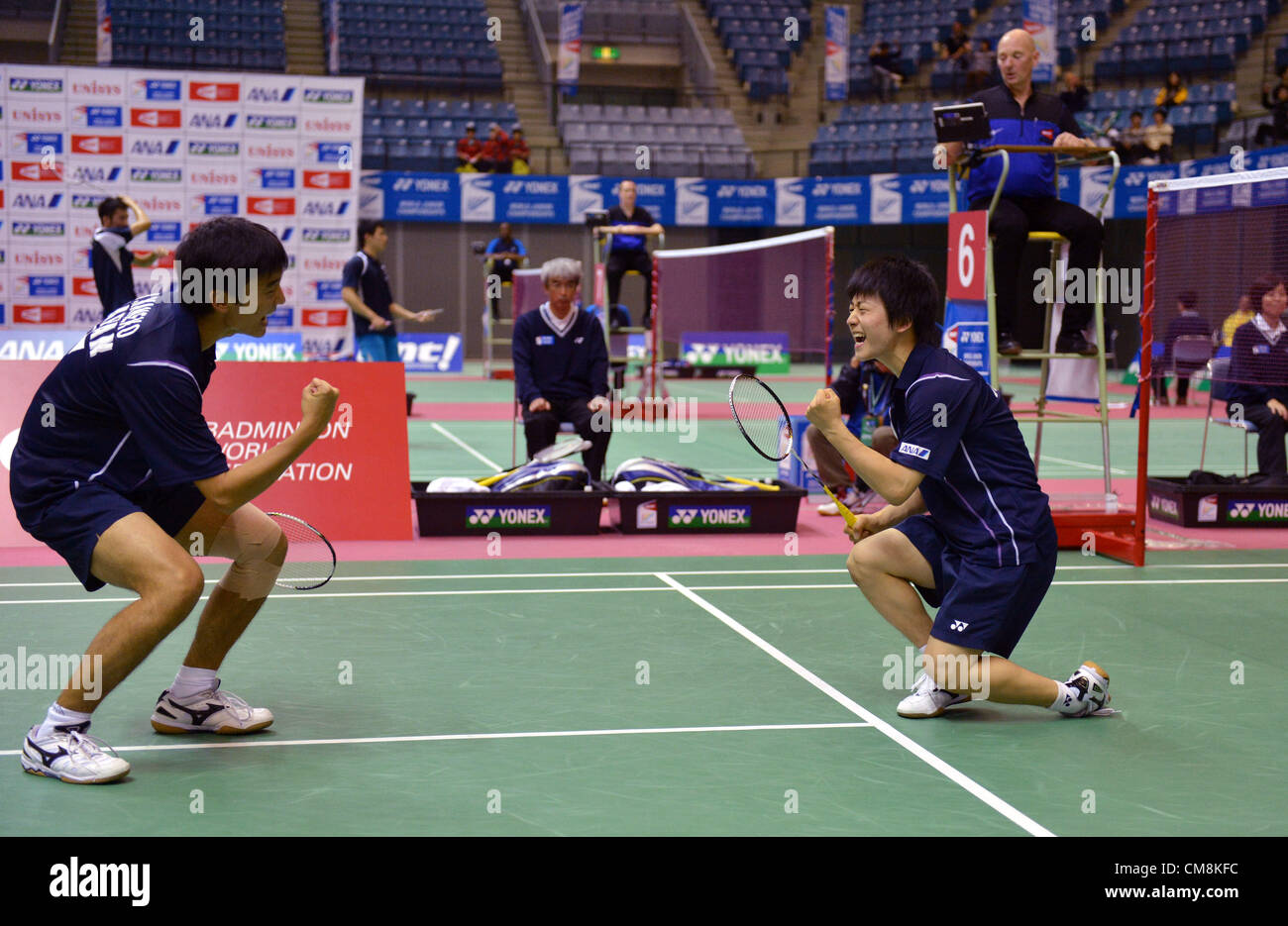 L to R Yuki Kaneko JPN Takuto Inoue JPN OCTOBER 28 2012