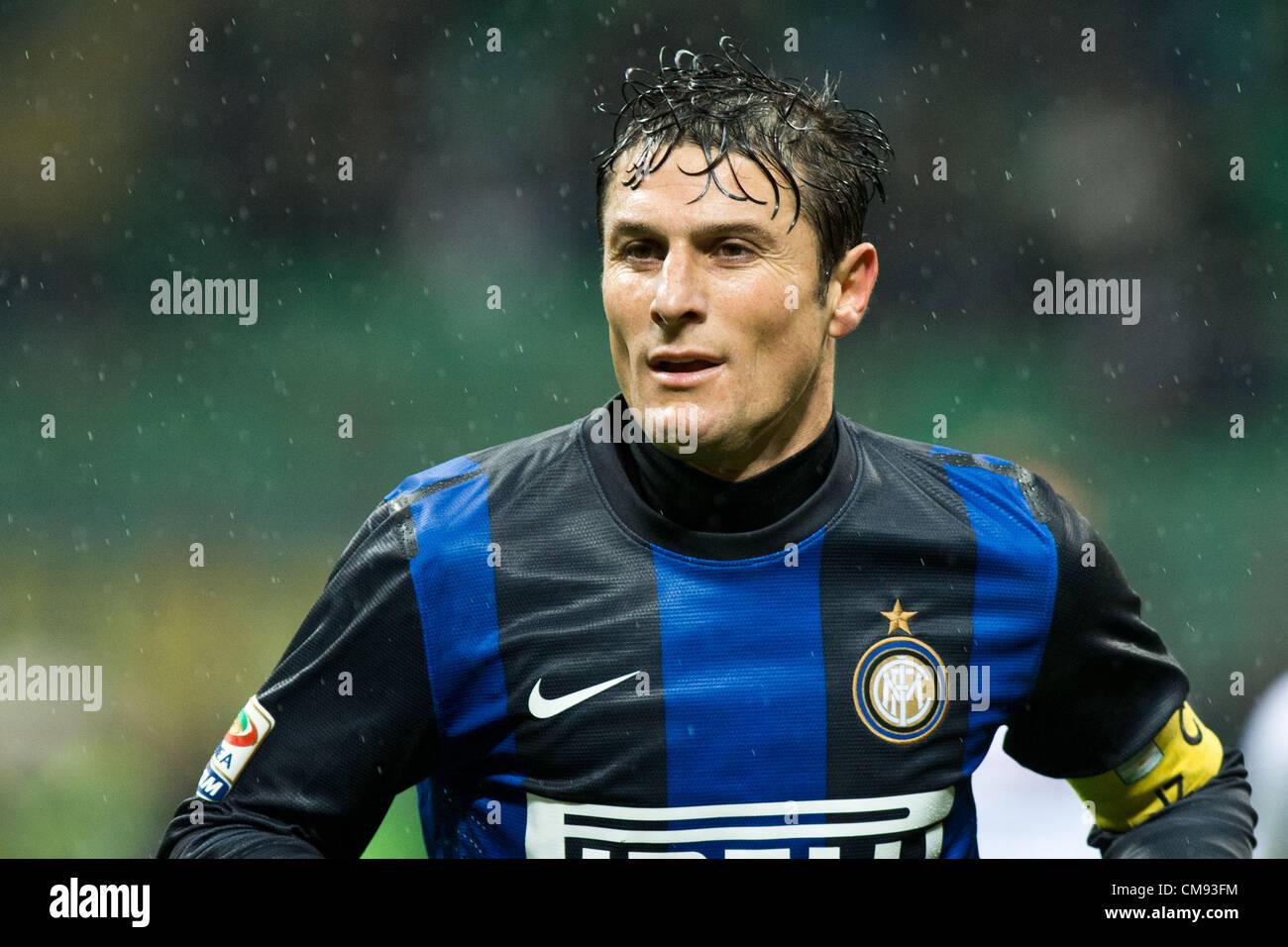 Javier Zanetti Inter OCTOBER 31 2012 Football Soccer Stock