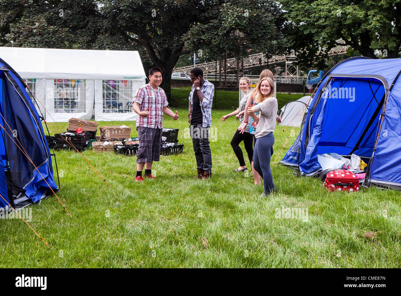 Richmond Upon Thames College Twickenham Greater London UK - A tent village appeared & Richmond Upon Thames College Twickenham Greater London UK - A ...