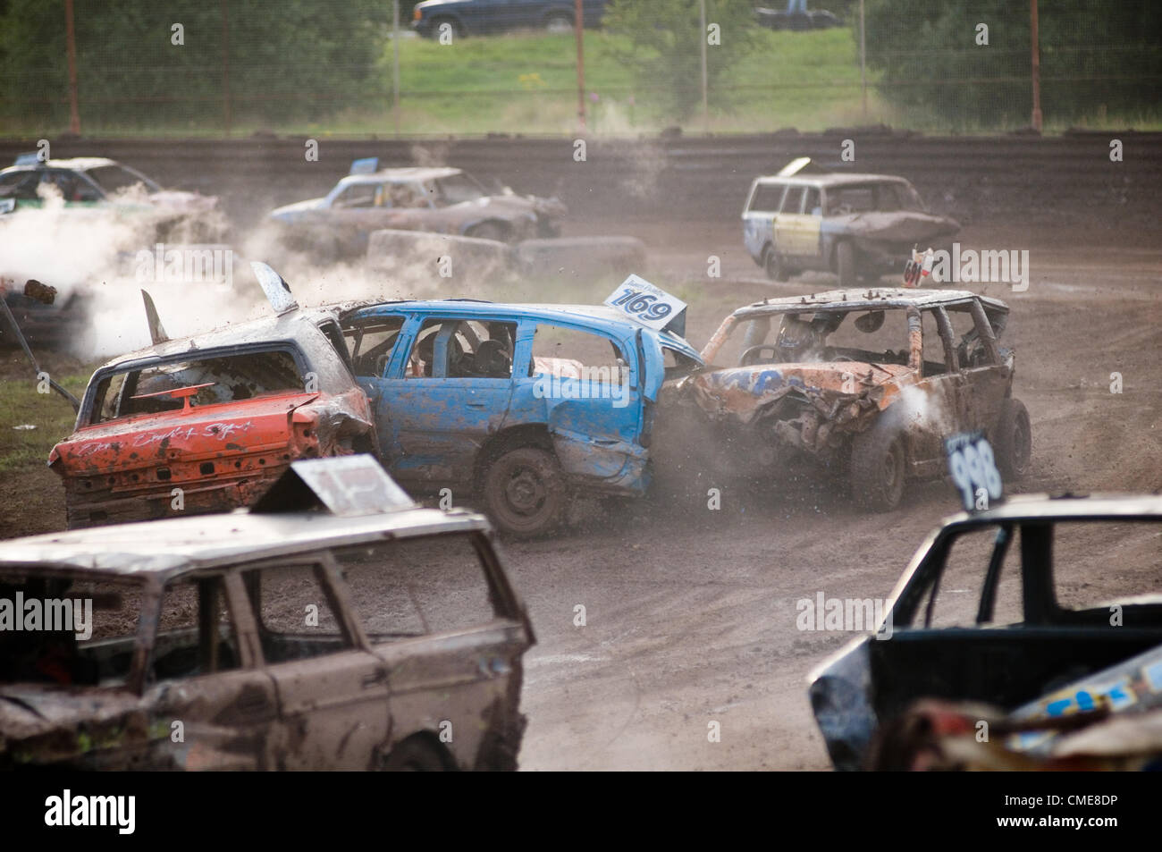 Banger Race Racing Crash Sequence Track Stock Cars Car Crashes