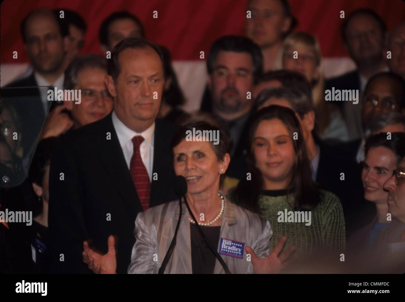 BILL BRADLEY with wife and daughter Super Tuesday Bill Bradley