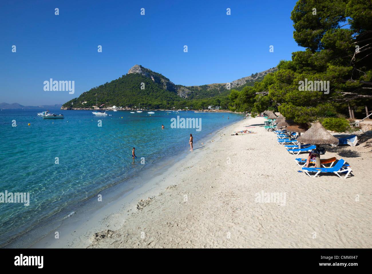 Platja Formentor, near Port de Pollenca (Puerto Pollensa), Mallorca Stock Pho...