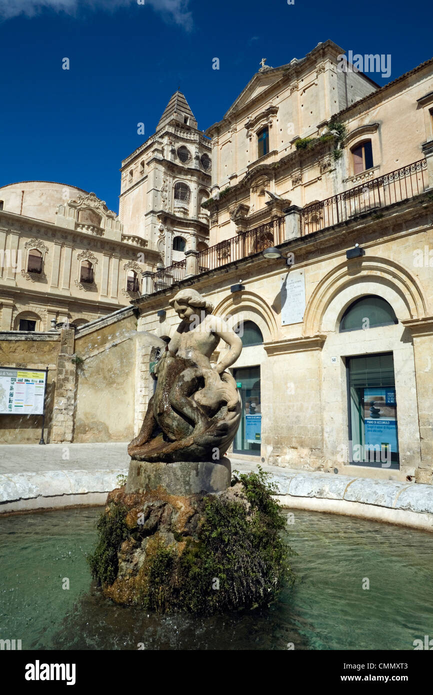 baroque architecture, noto, sicily, italy, europe stock photo