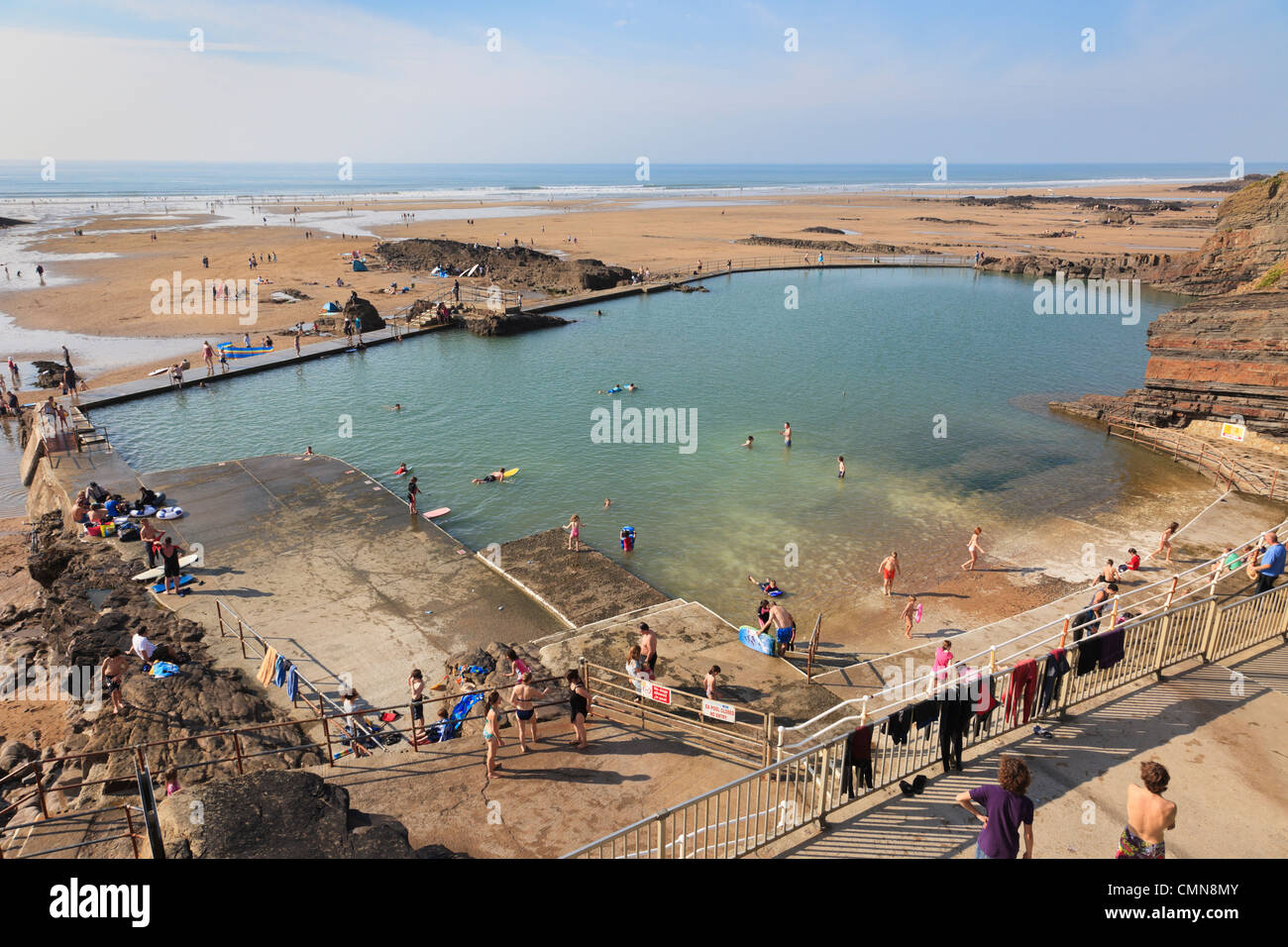 Summerleaze Beach Tidal Swimming Sea Pool With