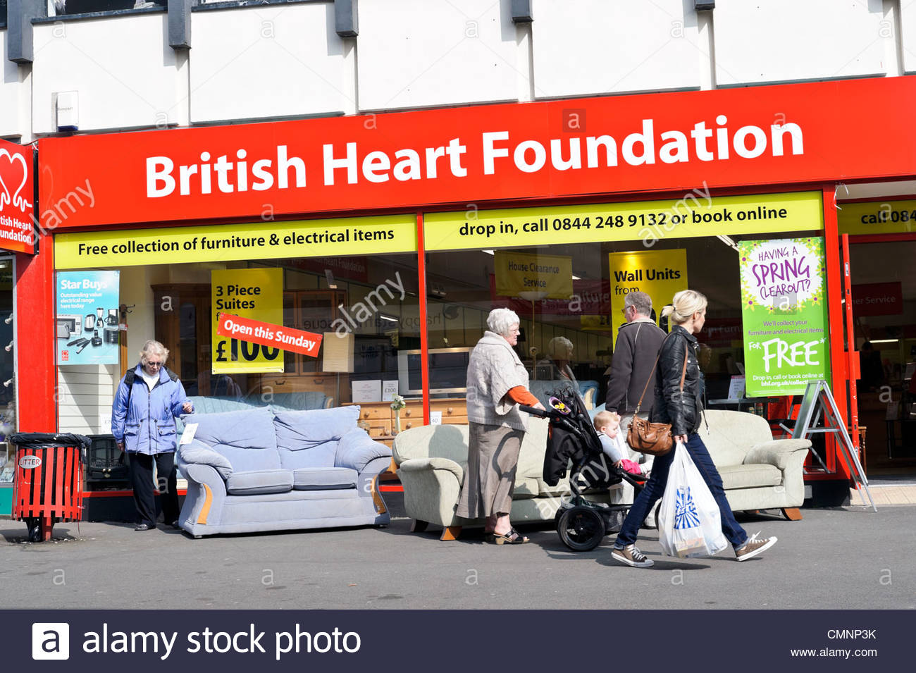 British heart foundation charity furniture shop in for Furniture kidderminster
