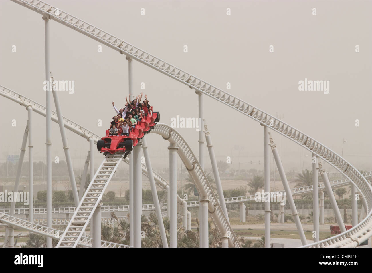 uae united arab emirates ferrari world abu dhabi roller coaster ride. Cars Review. Best American Auto & Cars Review