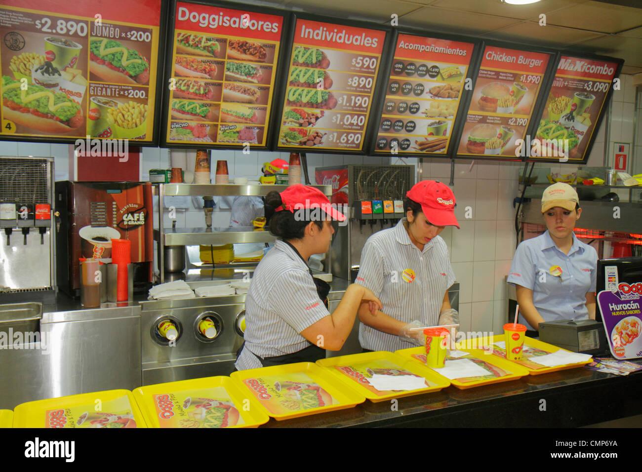 Santiago Chile Bellavista Pio Nono Doggis hot dogs fast food Stock ...