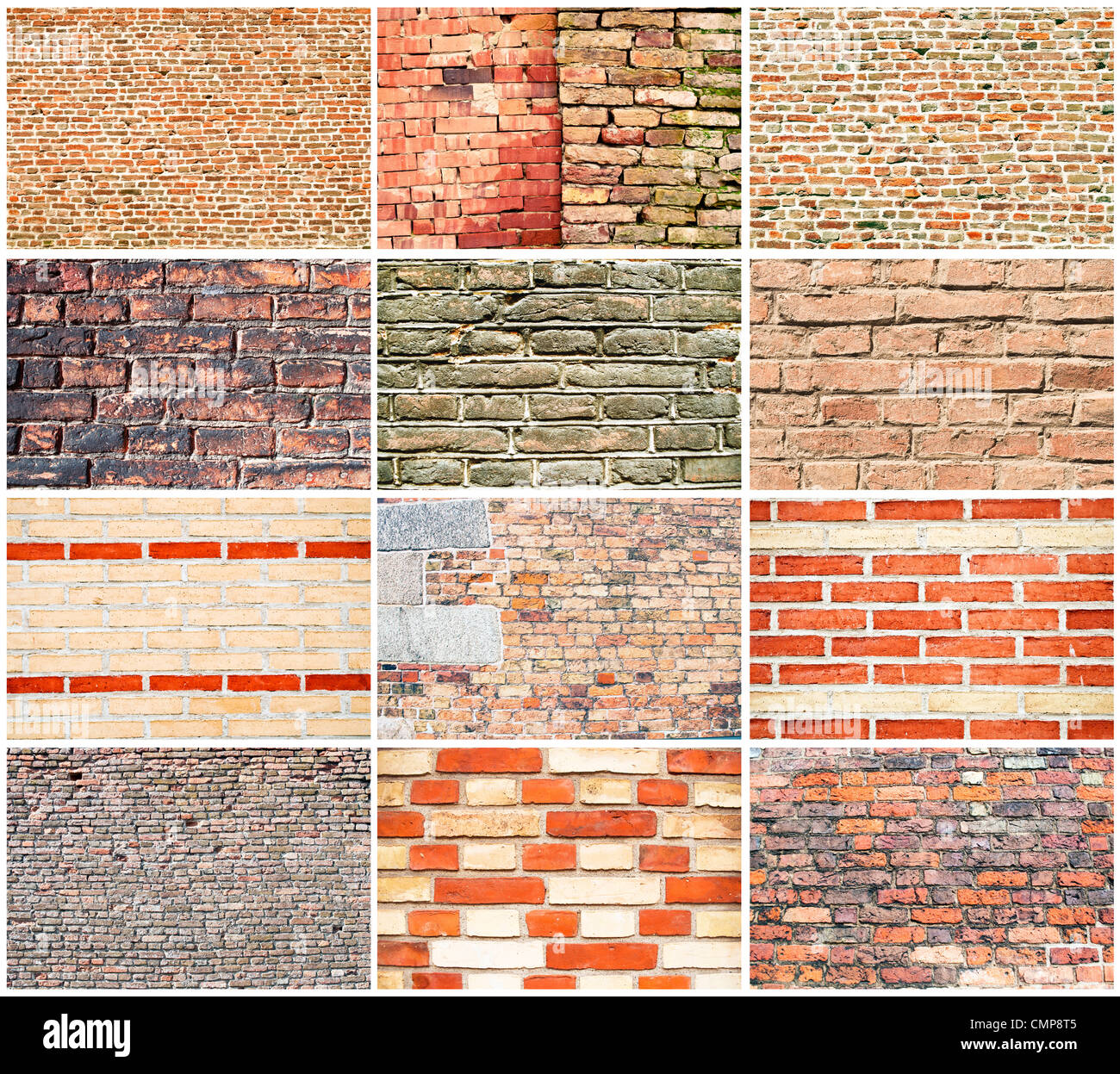 Various types of brick walls stock photo 47203749 alamy for Brick types and styles