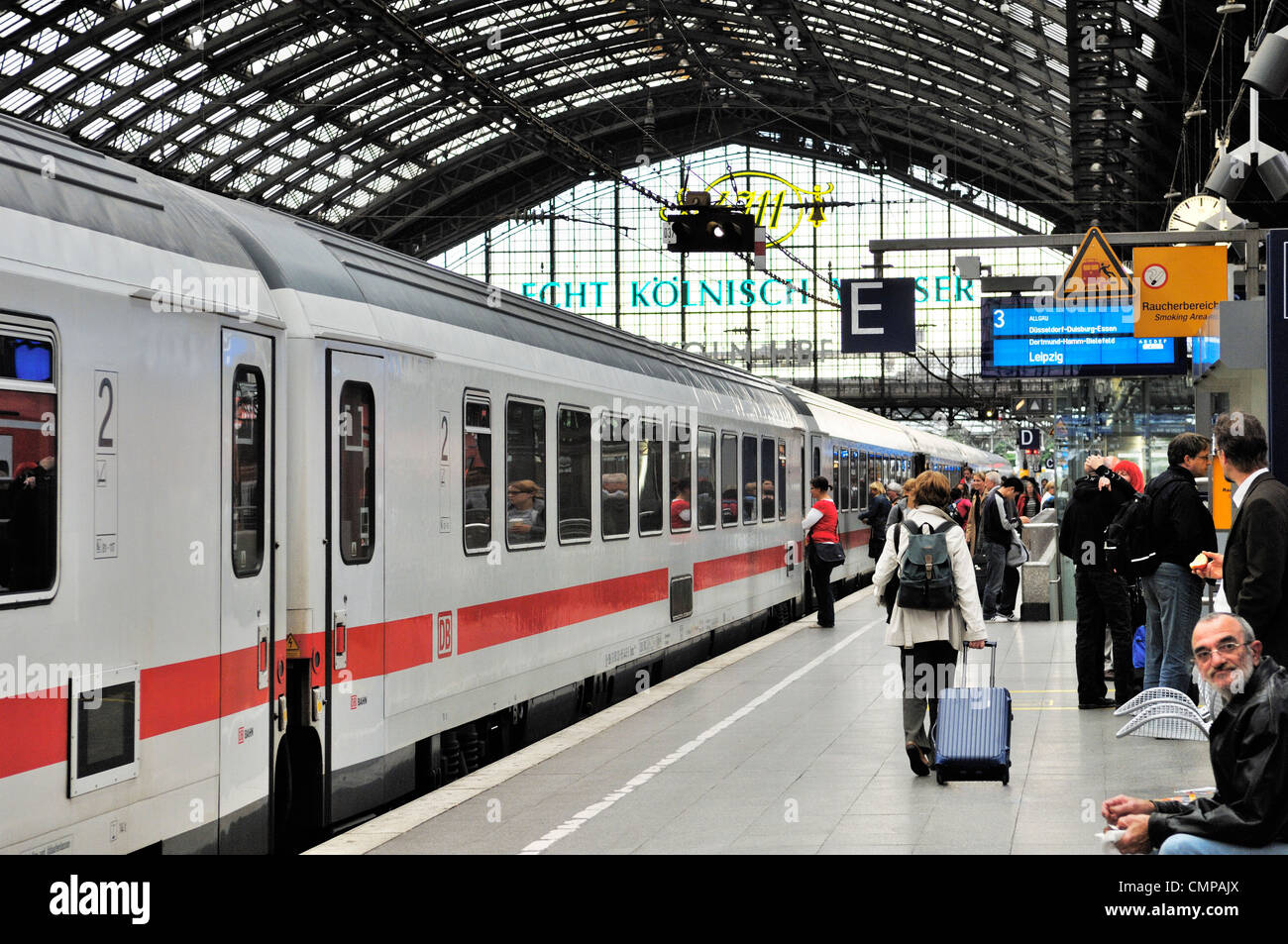 deutsche bahn db high speed german intercity passenger train standing stock photo royalty free. Black Bedroom Furniture Sets. Home Design Ideas