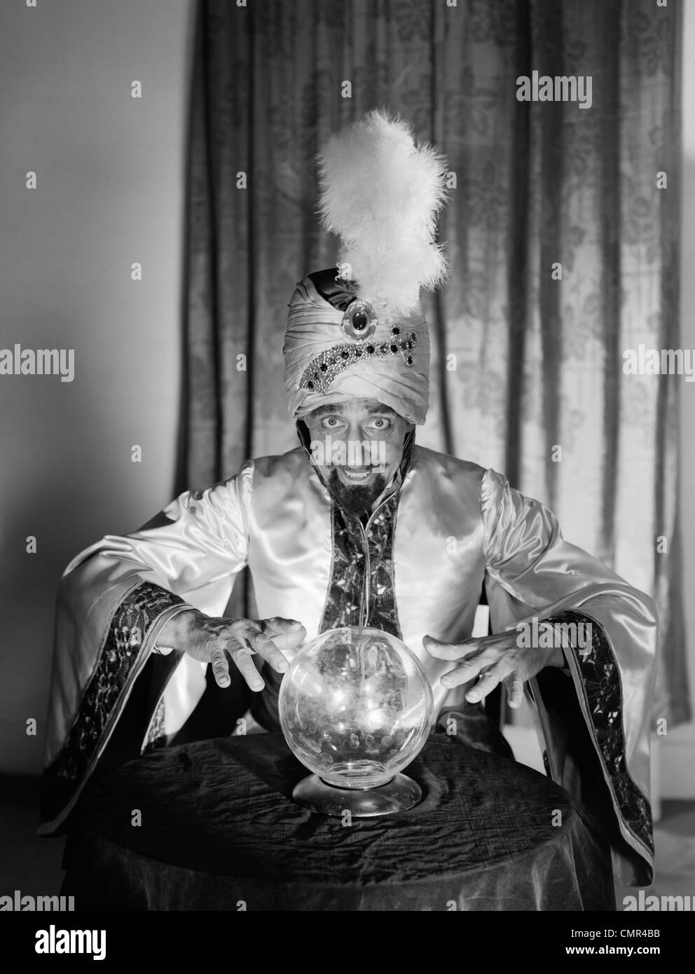 1950s PORTRAIT MAN SOOTHSAYER SWAMI FORTUNE TELLER WEARING ...