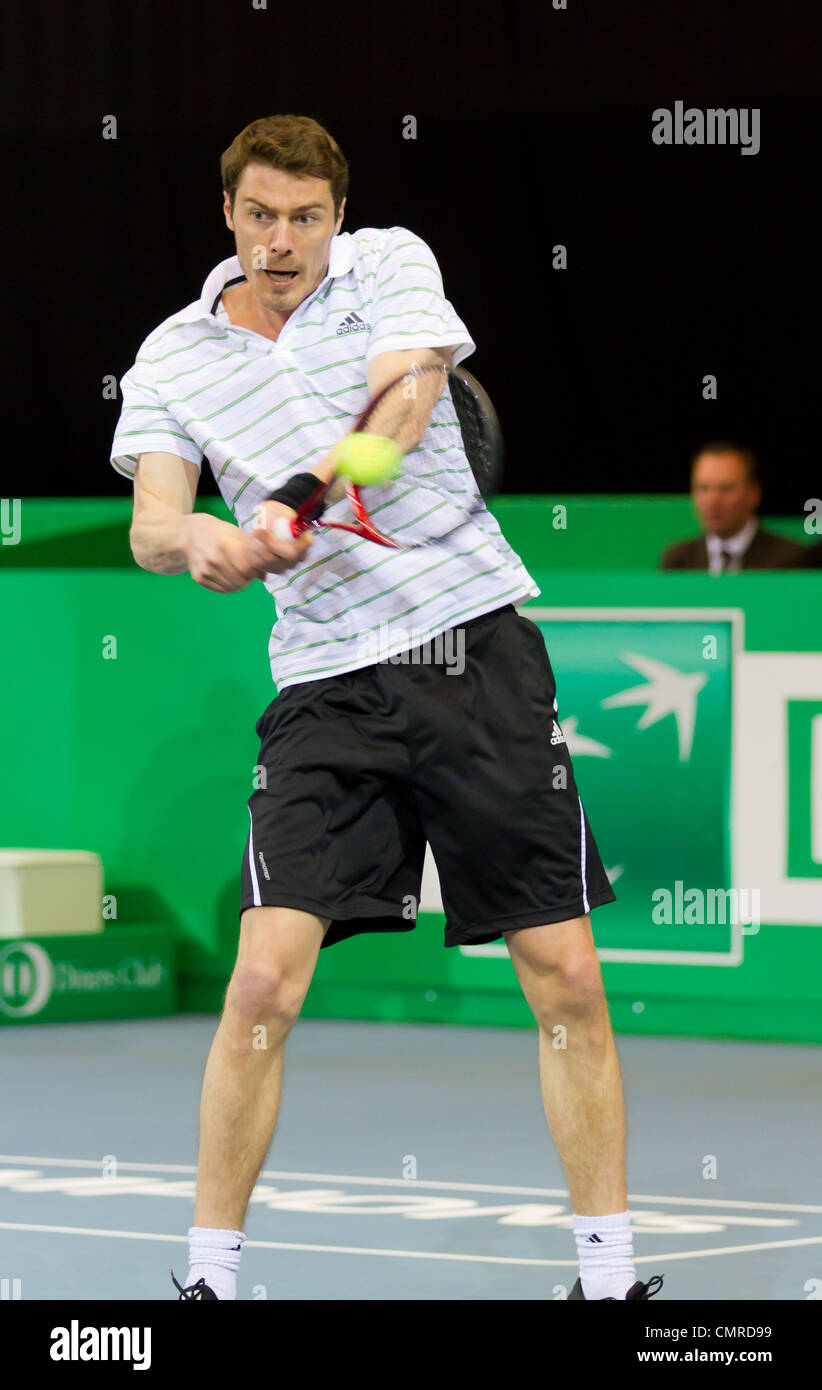 Marat Safin plays tennis for 3rd place at BNP Paribas Open