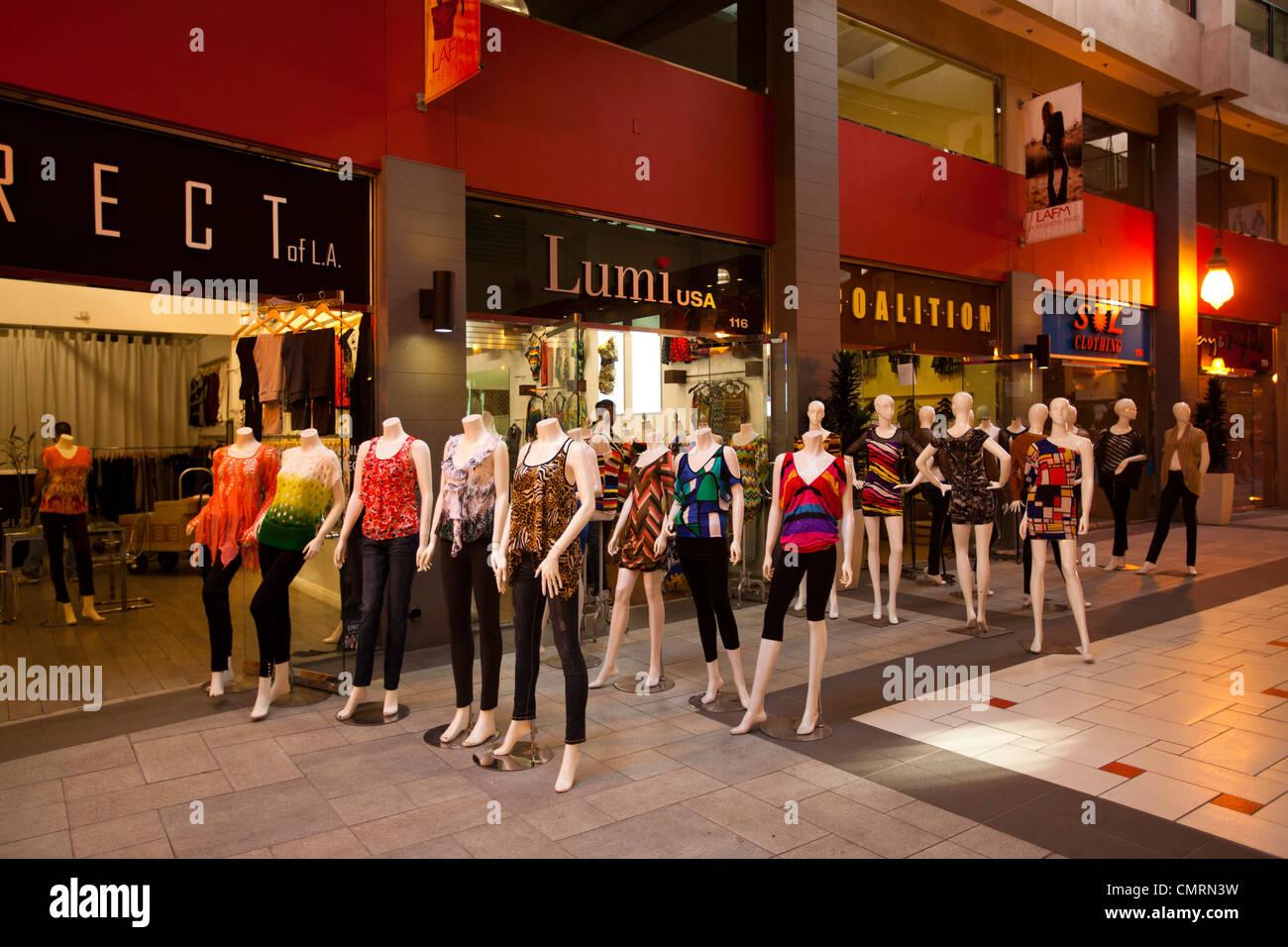 La la fashion district - Manikins Fashion District Downtown Los Angeles California Usa Stock Image