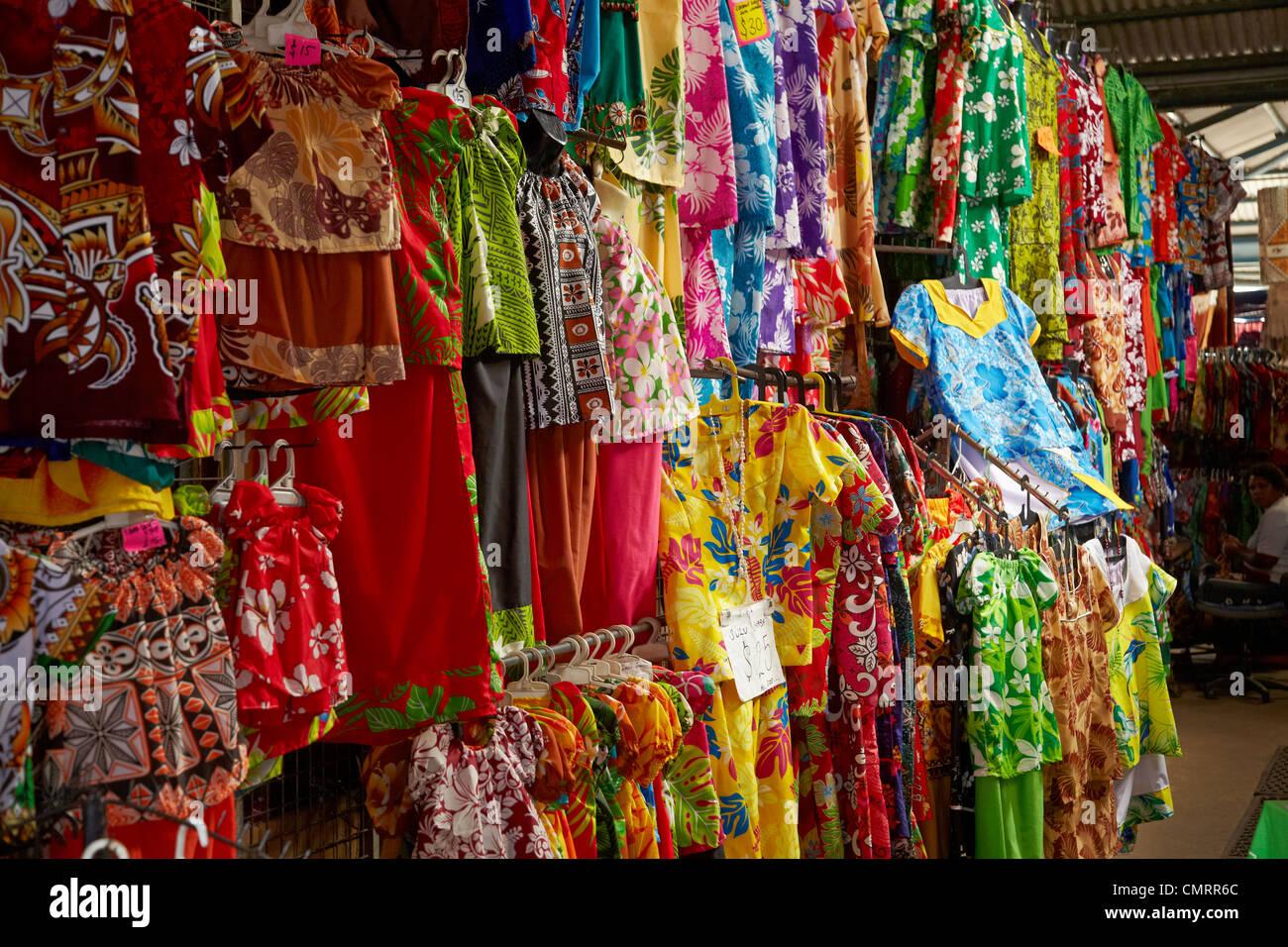 Clothing Stall At Suva Flea Market Suva Viti Levu Fiji South