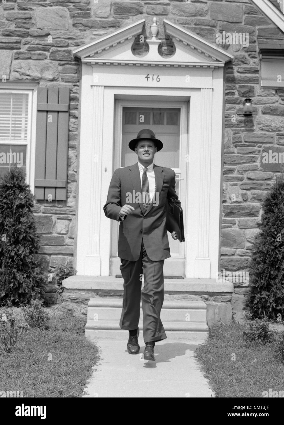 1950s Man Smiling Businessman Proud Look Of Satisfaction