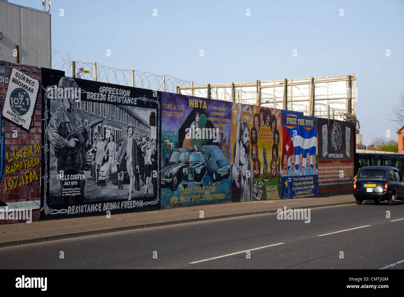 International wall murals lower falls road belfast for Mural belfast