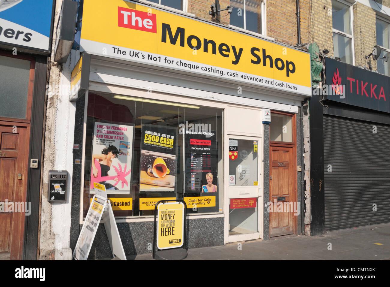 The Money Shop On Uxbridge Road Shepherds Bush West London Uk
