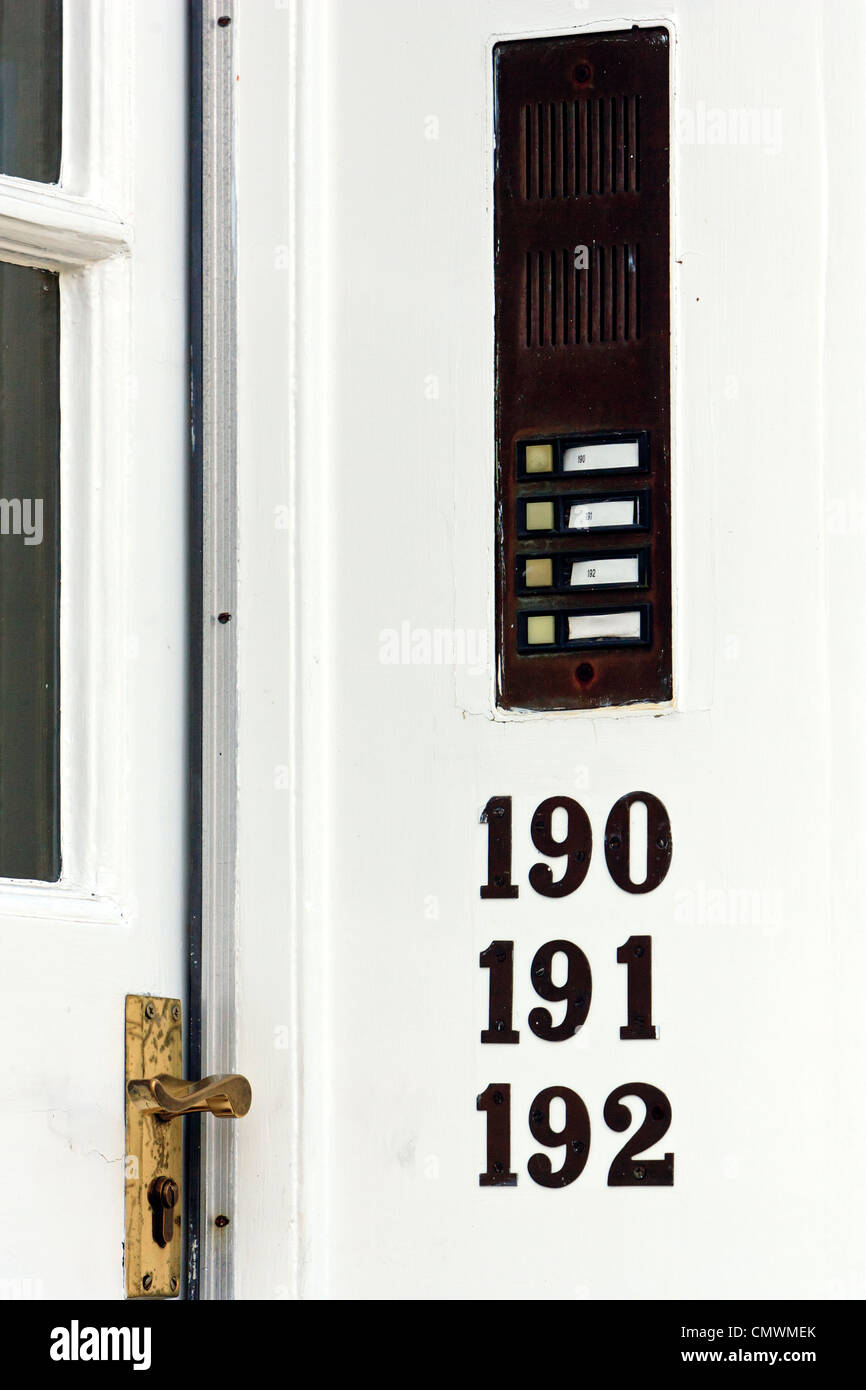 Door bell buttons to flats or apartments & Door bell buttons to flats or apartments Stock Photo Royalty Free ... Pezcame.Com