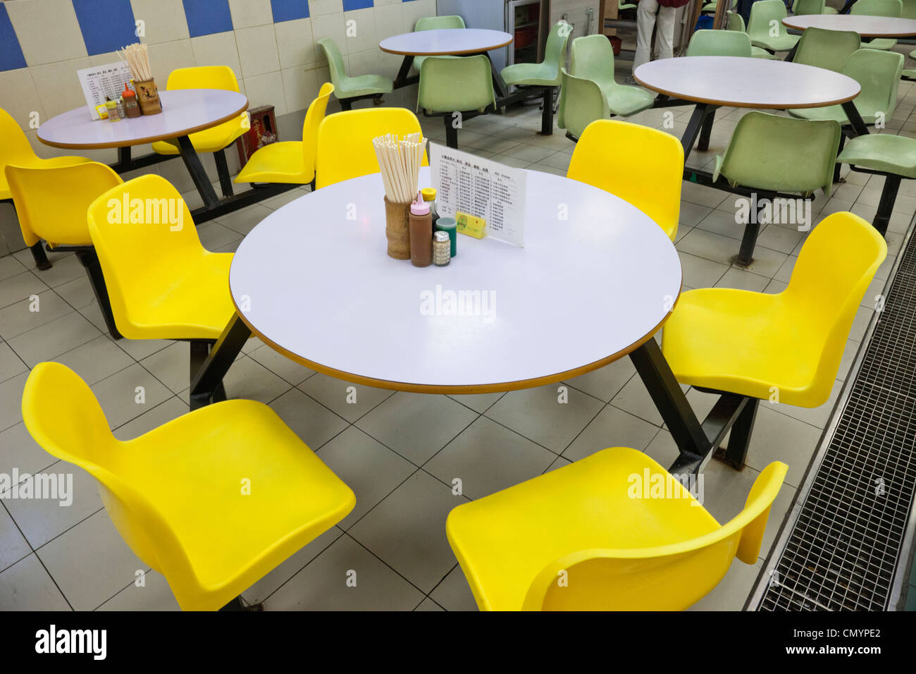 China Hong Kong Food Court Dining Table And Chairs