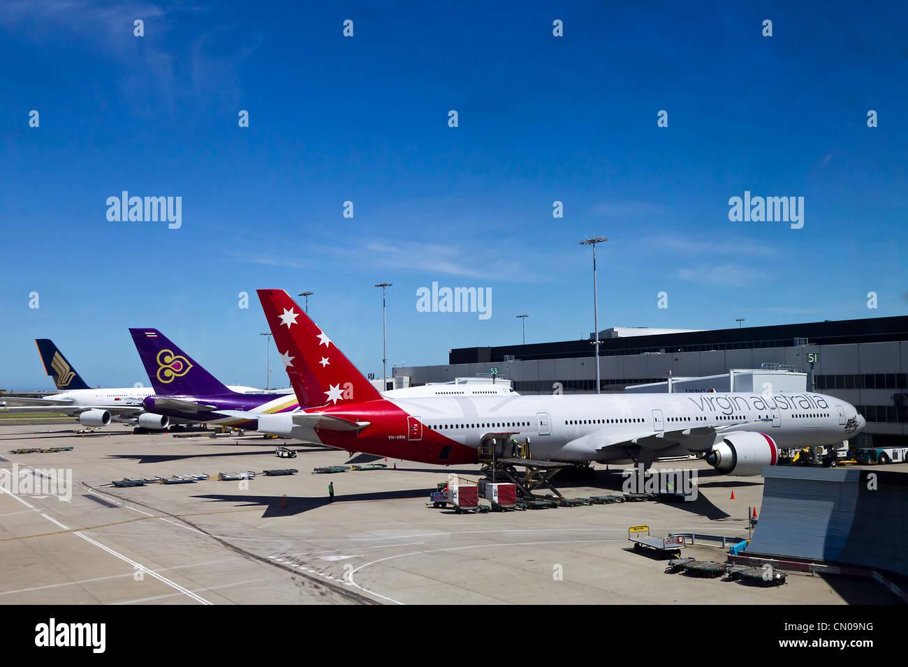 Blue apron australia - Singapore Airline Thai Airways Virgin Australia Sydney Australia Stock Photo