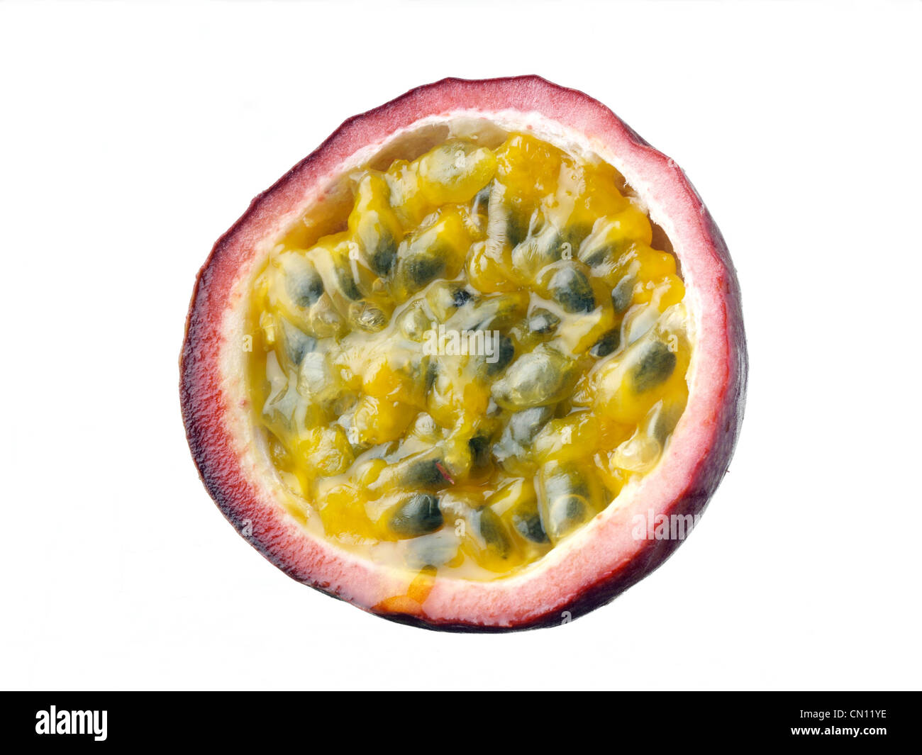 how to cut up passion fruit