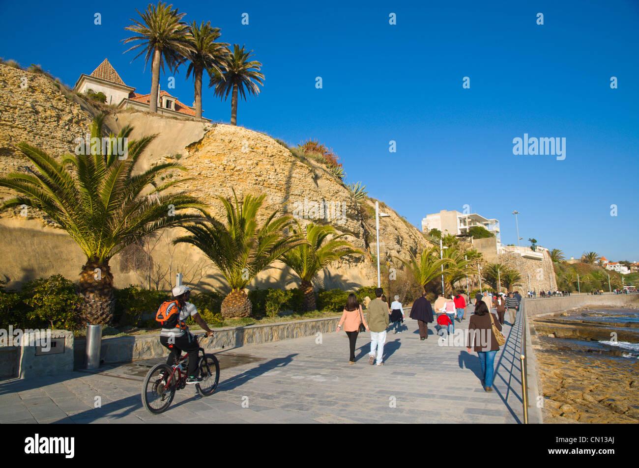 seaside promenade estoril coastal resort near lisbon