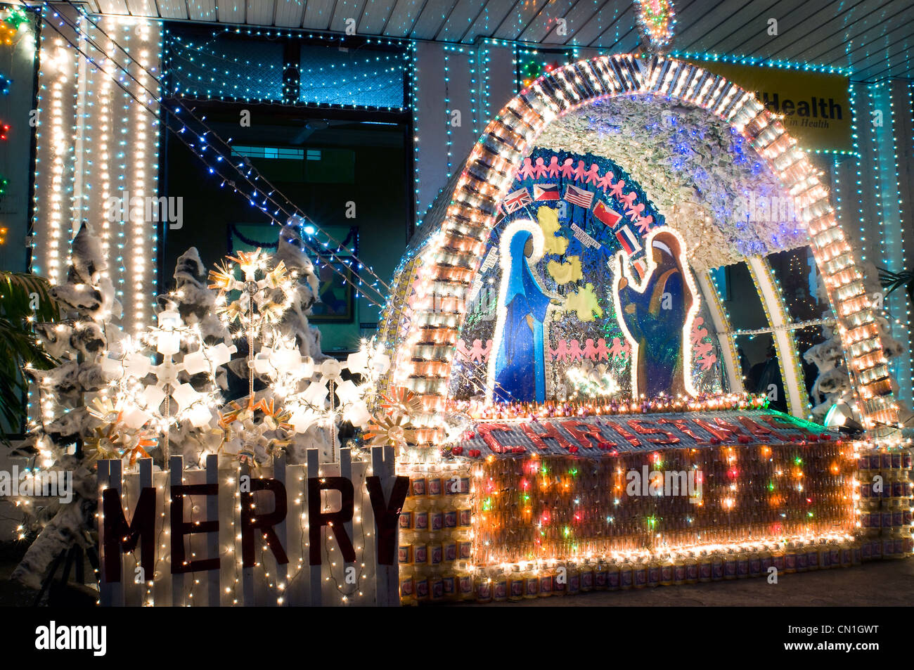 Crib for sale in olongapo - Christmas Crib Downtown Cebu Philippines Stock Image