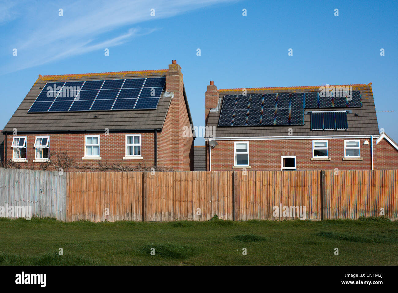 Charming Solar Panels In Domestic House For Free Heating Etc England Uk Gb