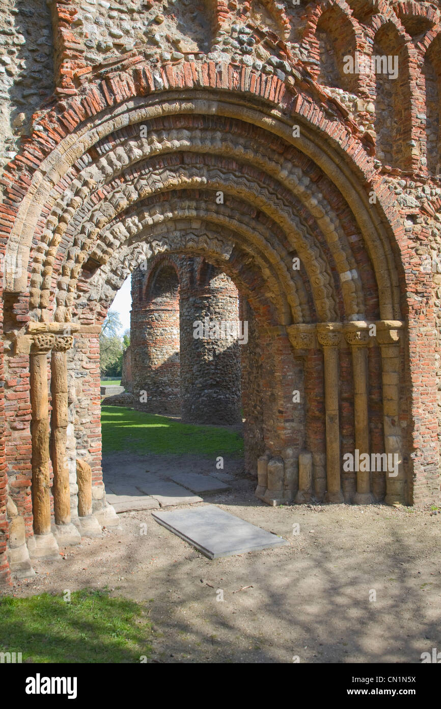 Norman archway door entrance Saint Botolph\u0027s priory Colchester Essex England & Norman archway door entrance Saint Botolph\u0027s priory Colchester Essex ...