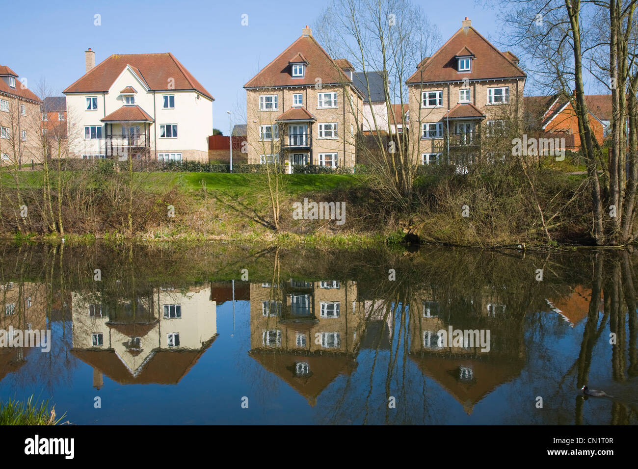 New Housing Development By River Colne Colchester Essex