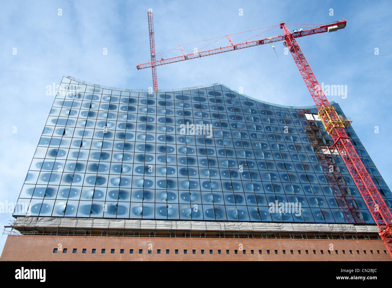 Stock photo hamburg germany riverside new - New Opera House Under Construction At Hafencity Modern Property Development In Hamburg Germany