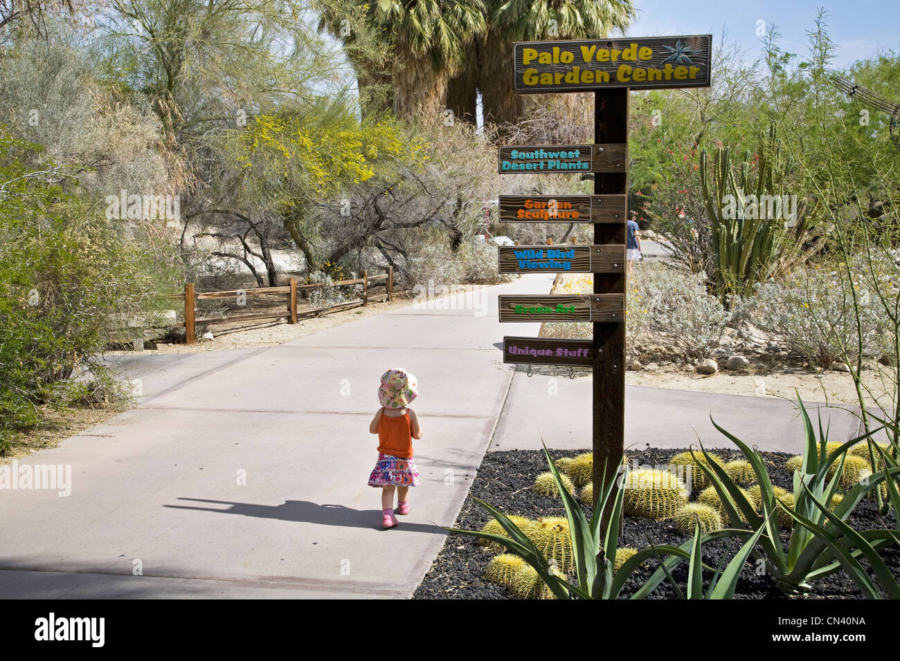 Great A Visitor Walks The Gardens At The Living Desert Zoo In Palm Springs,  California