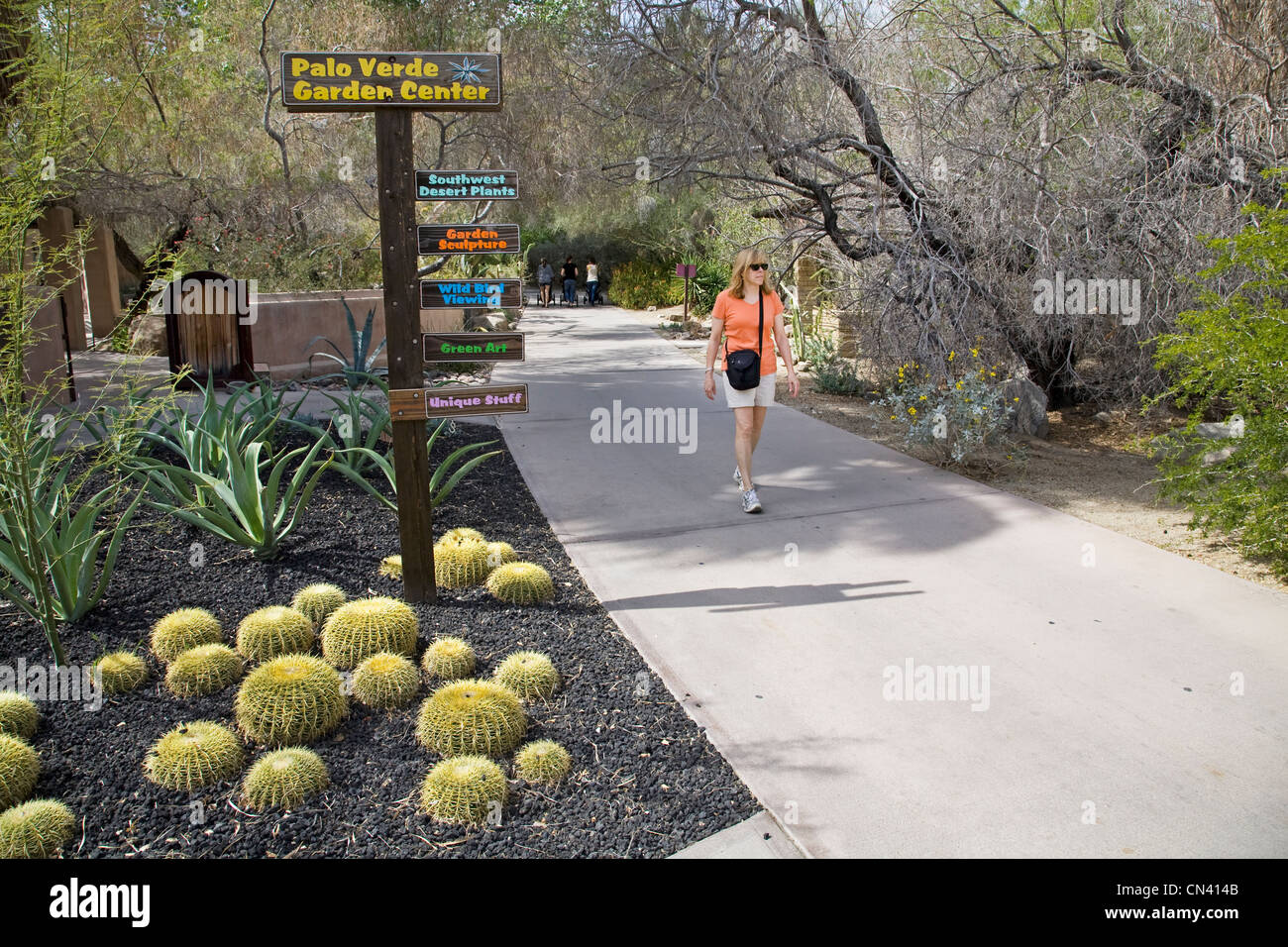 A Visitor Walks The Gardens At The Living Desert Zoo In Palm Springs,  California