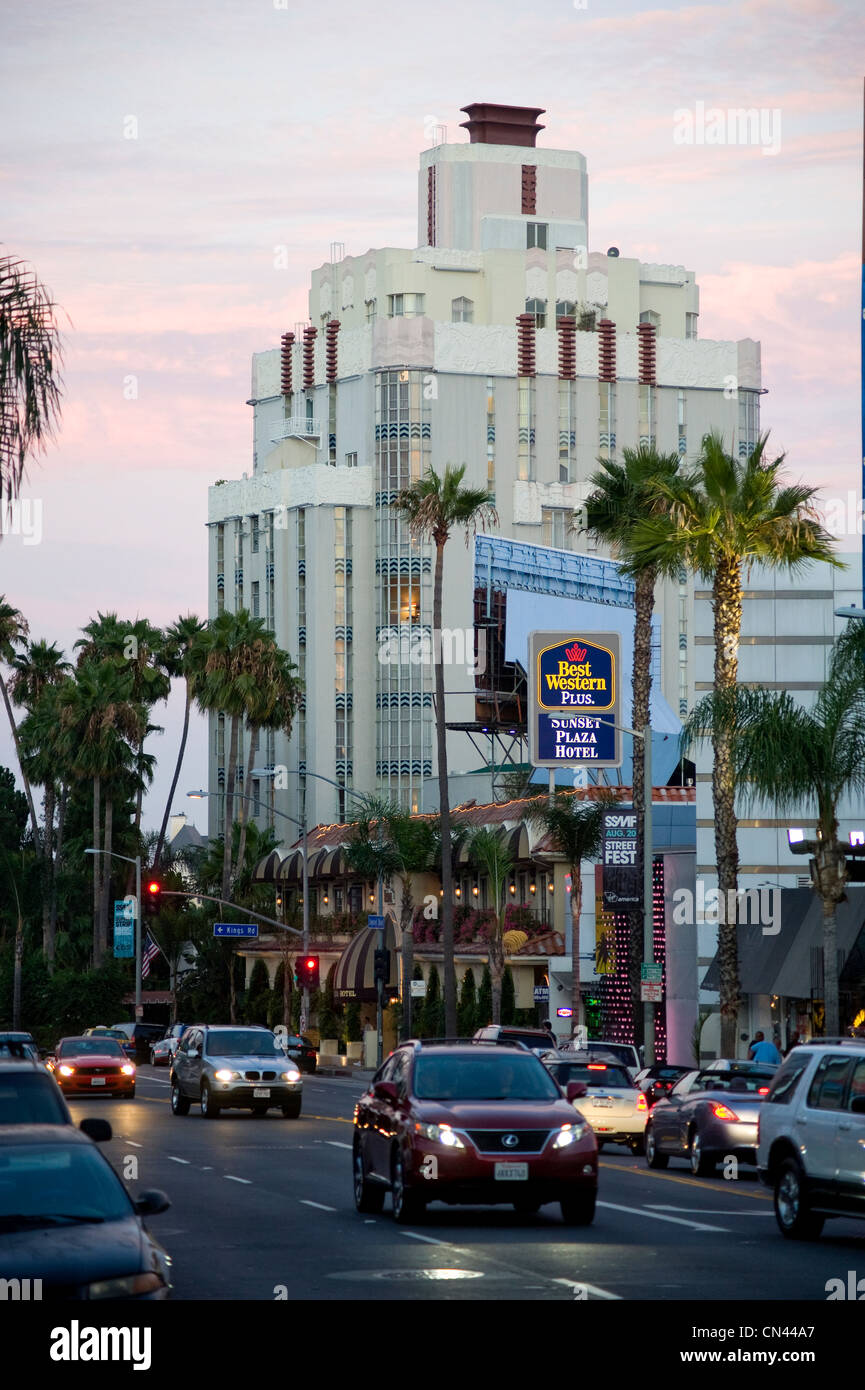 the art deco sunset tower hotel on the sunset strip in los. Black Bedroom Furniture Sets. Home Design Ideas