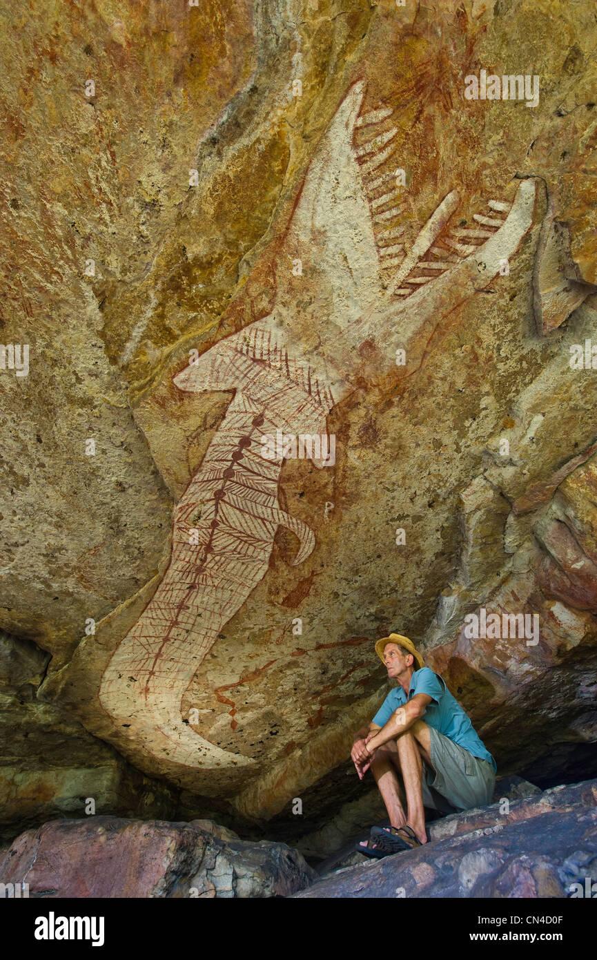Australia northern territory arnhem land mont - Peinture effet serpent ...