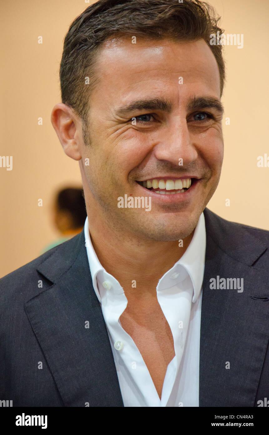 Fabio Cannavaro at GITEX 2011 in Dubai Stock Royalty Free