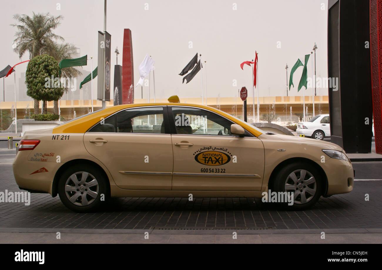 Taxi in dubai united arab emirates uae toyota camry stock image