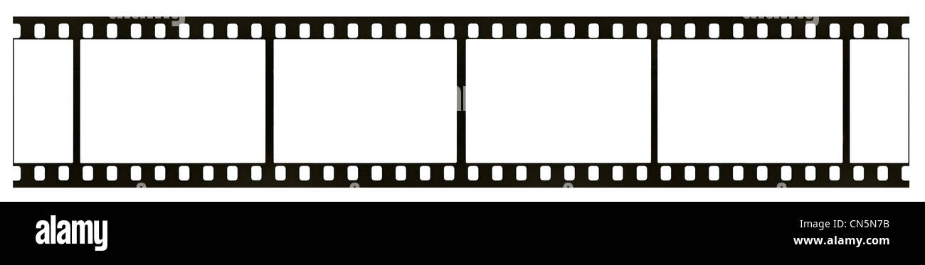 blank highly detailed real vintage 35mm black and white negative film frame film