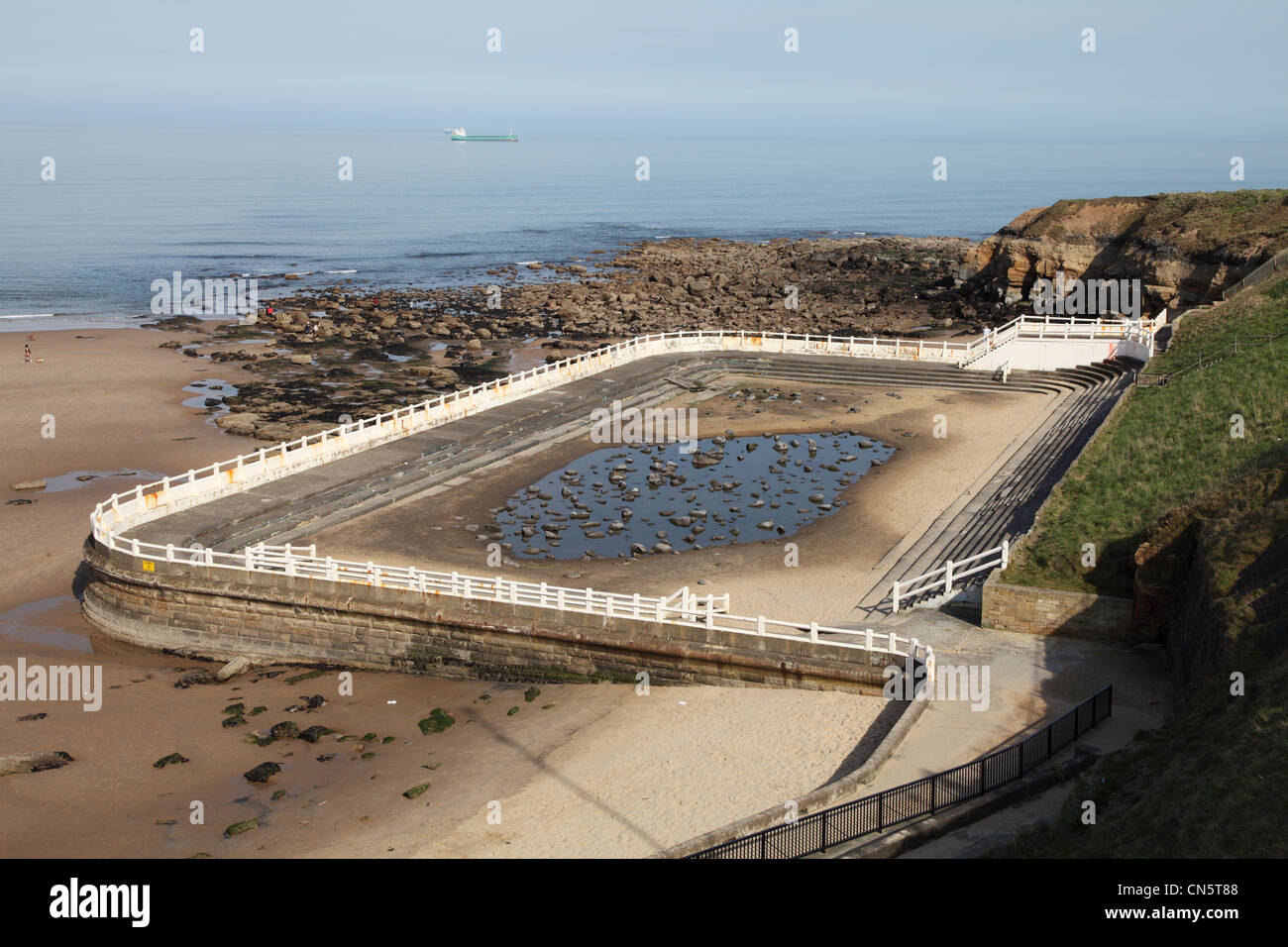 The disused outdoor tidal swimming pool at tynemouth north east stock photo royalty free image for Swimming pools in the north east