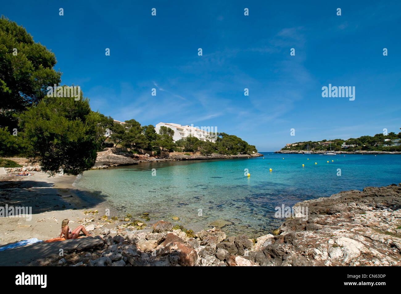Porto Petro Beach Mallorca Balearics Spain Stock Photo: 47462962 - Alamy
