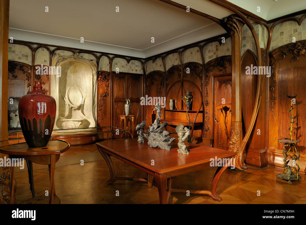 Art nouveau style furniture - France Paris The Orsay Museum Dining Room In Art Nouveau Style Of The
