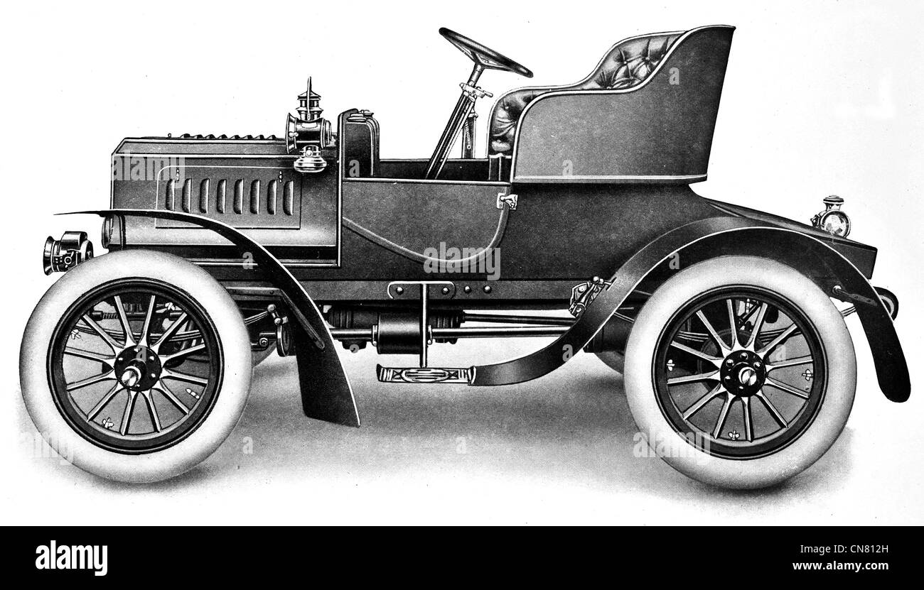 1900 Motor Car Automotive Vehicle Road Transport Driver Antique Rare Stock Photo Royalty Free