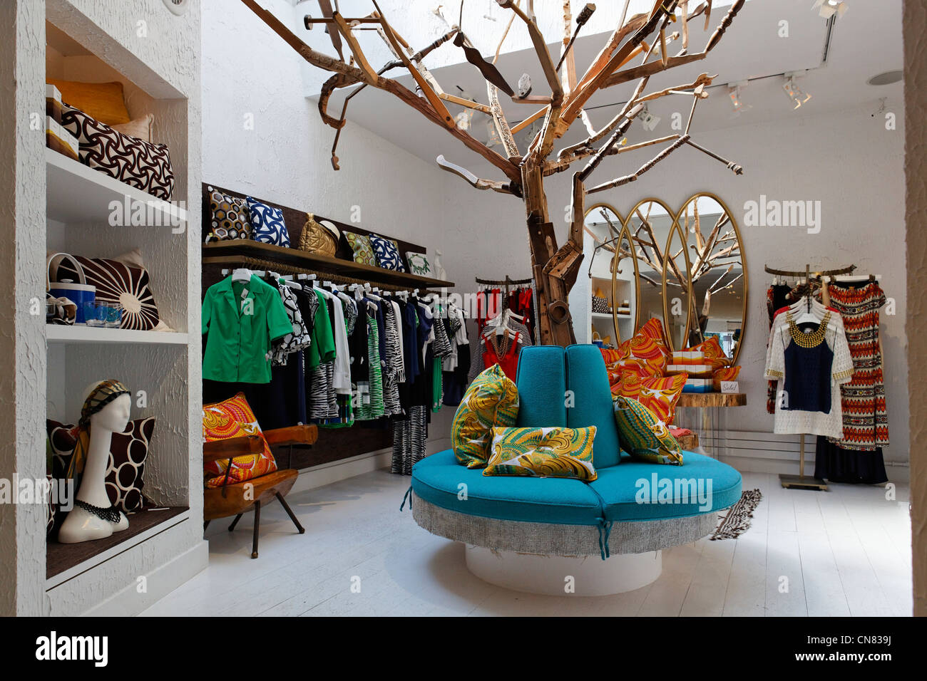 United States, New York City, Manhattan, Meatpacking District, Trina Turk  Fashion Store, 67 Gansevoort Street